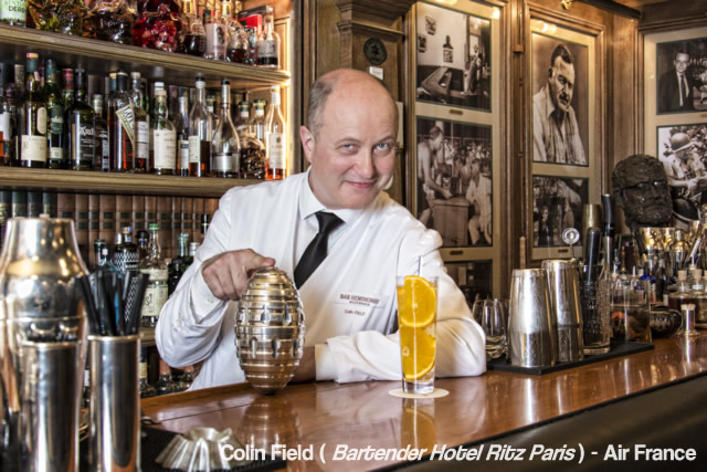 Air France se une a renomado bartender do Ritz de Paris para oferecer drinks exclusivos