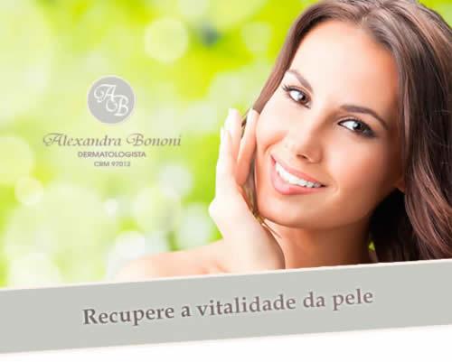 Recupere a vitalidade da pele - Dra. Alexandra Bononi - CRM 97012 - Dermatologista