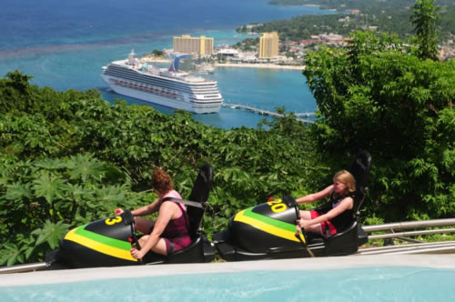 Mystic Mountain - Bobsled Jamaica tandem view