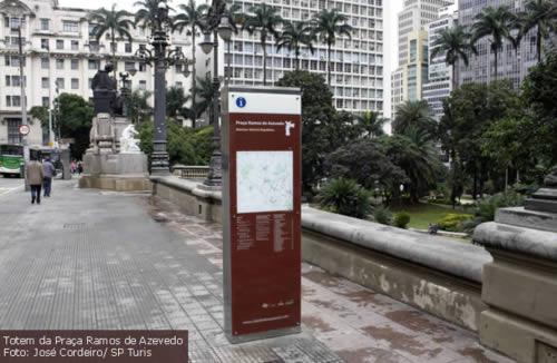 Totens de sinalização turística em Sâo Paulo